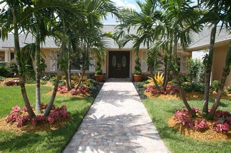 front entance landscaping tropical landscape miami by bamboo landscaping and services inc