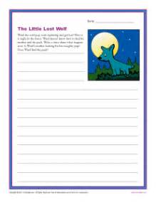 The little lost wolf 1st and 2nd grade writing prompt worksheet