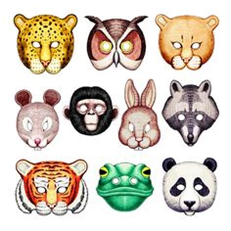 woodland animal masks template animals masks templates clipart best