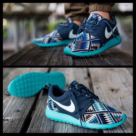 tribal pattern shoes shoes blue low top sneakers pants nike nike running