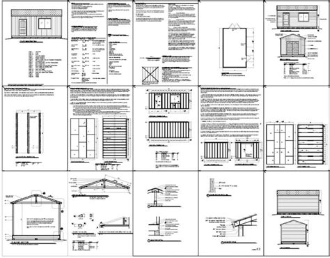 Free Shed Blueprints 12x20 by Storage Building Plans 12x20 Pdf Woodworking