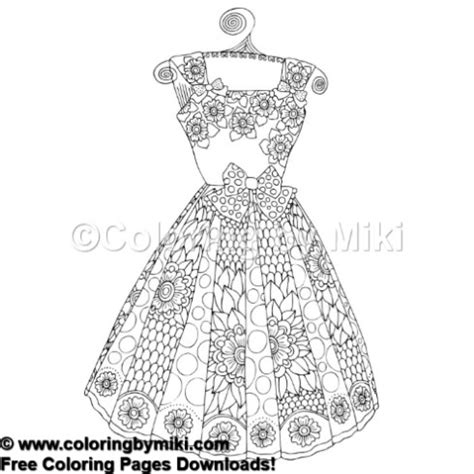 Dress 816 By fashion dress coloring page 816 coloring by miki