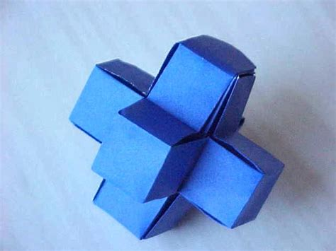 Origami 3d Shapes - diagrami 3d plus sign