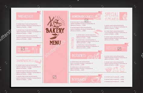 bakery menu template 25 free premium download