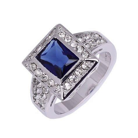 Cincin Berlian 0 38 Carat Ring Emas 40 6 25 Gram Fashion Wanita cincin pria ring 8 cz sapphire 10k wgf