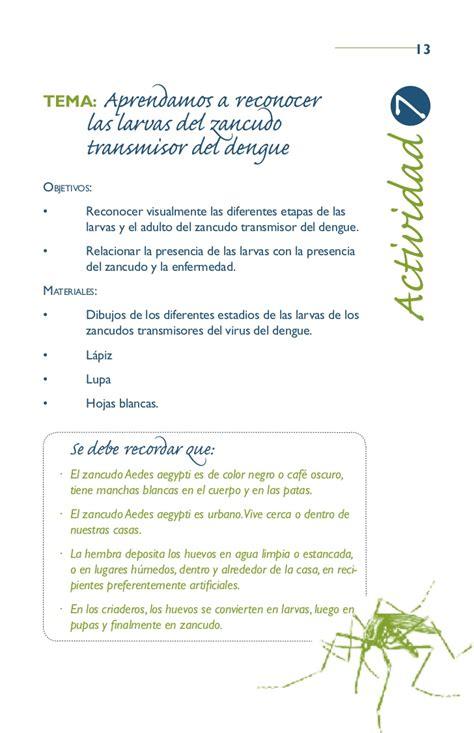 el libro de actividades libro de actividades contra el dengue