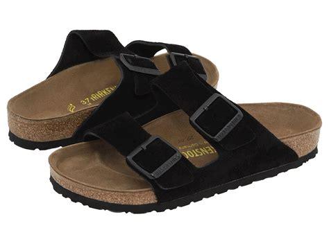 birkenstock sandals on sale birkenstock arizona soft footbed black suede s sandals