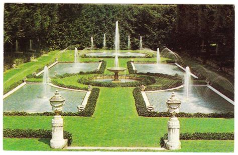 Longwood Gardens Kennett Square Pa by Vintage 1969 Postcard Longwood Gardens Kennett Square Pa