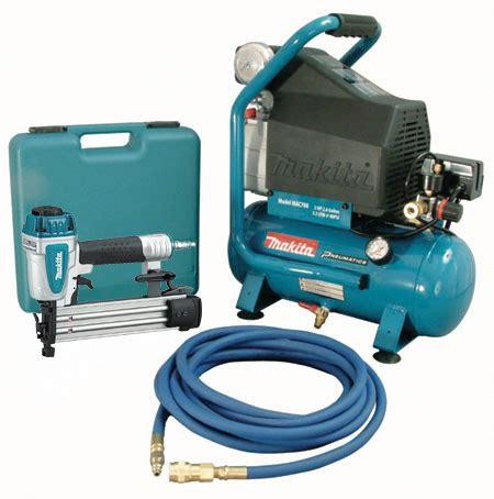 H L F32 Air Nailer makita mac700 kit3 2 h p air compressor and brad nailer kit