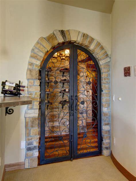 wrought iron wine cellar door home design ideas pictures