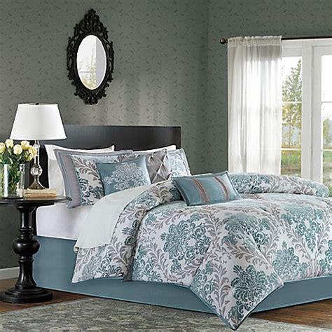madison park bedding website madison park bella 7 piece comforter set in aqua bed