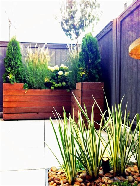 modern balcony planters planter boxes use a clean modern design plant grasses