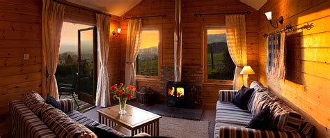 Two Bedroom Luxury Log Cabin with hot tub and wood burning