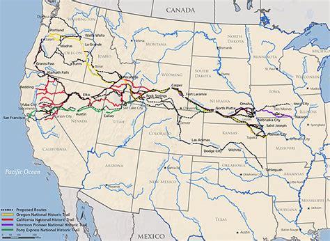 california trail map kansas feasibility study pony express national historic trail