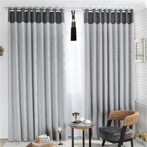 best curtain rod for blackout curtains vintage living room decoration with tab top gray blackout