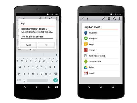 opera android bagikan bookmarks di versi terbaru opera untuk android