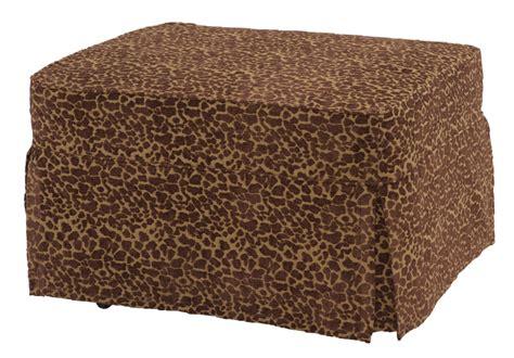 Castro Convertibles Ottoman Leopard Slipcover Only Castro Convertibles