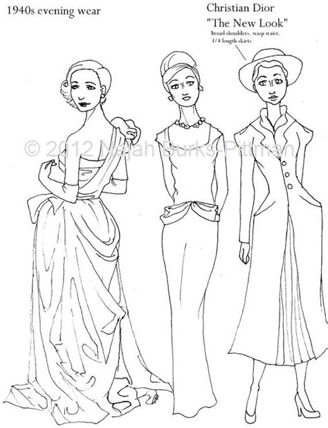 vintage dress coloring page clever girl coloring pages vintage clothing pinterest