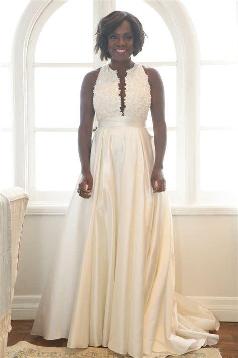 Vow Renewal Wedding Hairstyles viola davis s wedding vows renewal look instyle