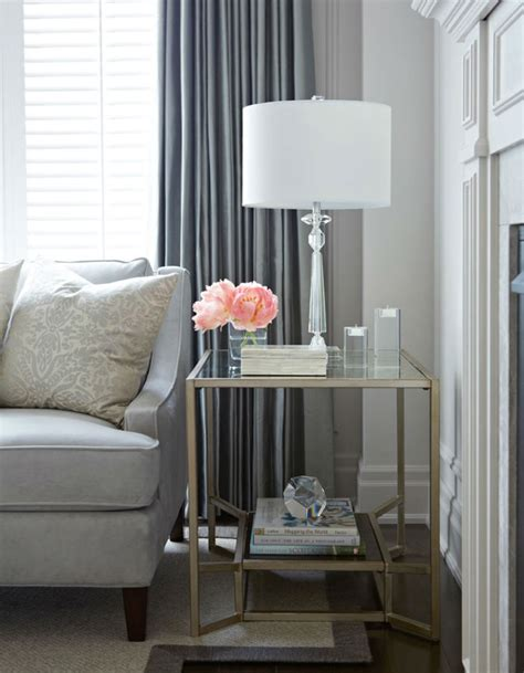 glass side tables for a modern living room 2015 trends