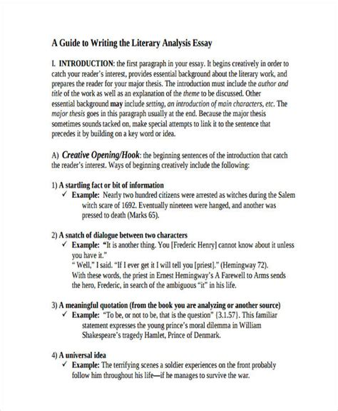 How To Write An Analysis Essay On A Book by Exle Of A Literature Essay Gse Bookbinder Co