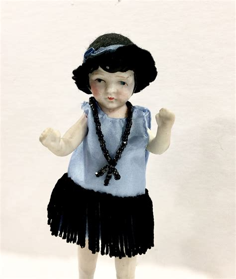 vintage bisque flapper doll vintage bisque doll flapper doll jointed arms and legs
