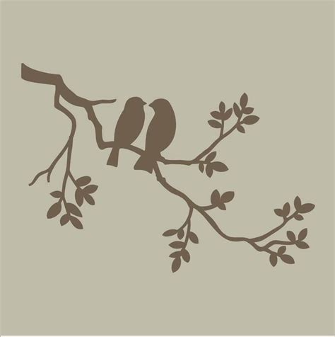 Stencils Two Birds On Branch Stencil Design By Bird Design Templates
