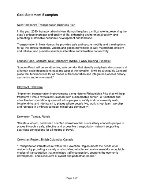 Resume Goal Statement Examples statement essay sample graduate school goal statement sample statement