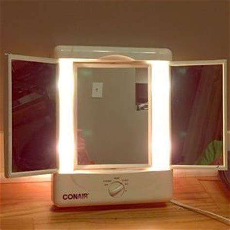 3 panel lighted makeup mirror 58 conair other conair illumina 3 panel lighted