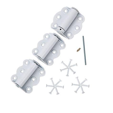 ideal security screen door hinge set   wscrews white