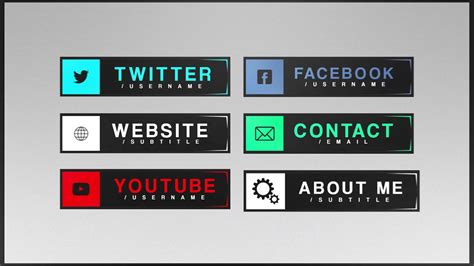 Free Twitch Panels Template L Smuush Youtube Twitch Template Maker