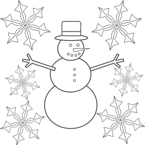 printable snowflakes easy free printable snowflake coloring pages for kids