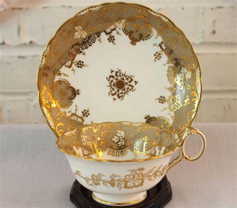 Dawiya Set antique tea cup and saucer brown westhead co