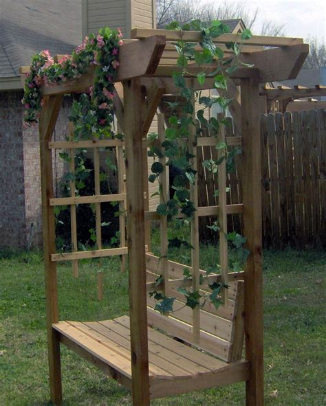 garden bench with arbor arbor bench design woodworking projects plans