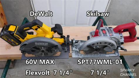 dewalt  max flexvolt  skilsaw wormdrive circular