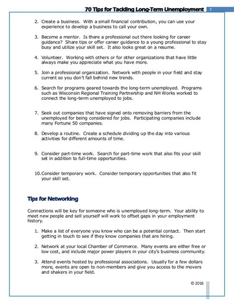 sle cv for long term unemployed resume cover letter unemployed sle cover letter