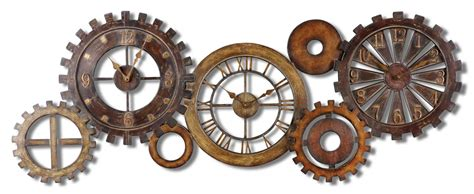 Design Home Decor Wall Clock by Uttermost Spare Parts Wall Clock 06788