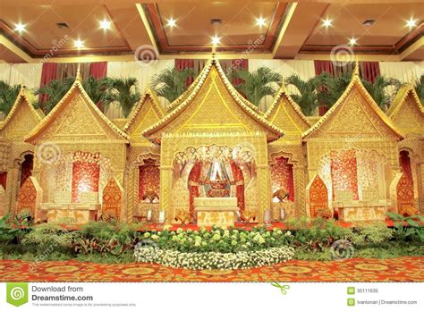 Wedding Animation Indonesia by Traditional Wedding Decoration Royalty Free