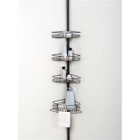 oil rubbed bronze bathtub caddy zenith e2132hb tub and shower tension pole caddy oil