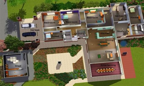 Sims 3 House Plans Sims 3 Modern House Plans Cool House Sims 3 Modern House Floor Plans