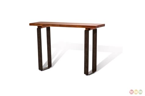 Rustic Coffee Table Legs Telluride Rustic Country Style Mahogany Coffee Table With Metal Legs