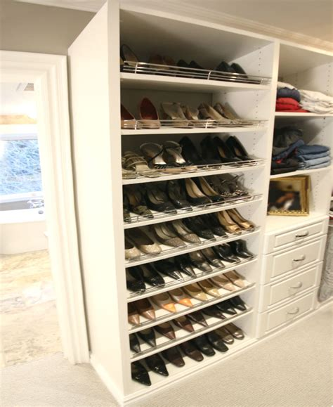 shoe storage system toronto shoe closets shoe fences displays