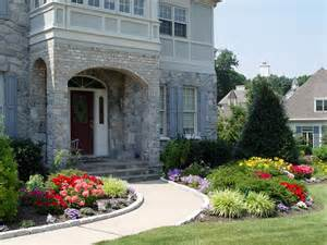 Suburban Backyard Landscaping Ideas Flower Garden Ideas In Front Of House Gallery Amys Office