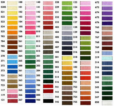 thread colors thread color chart