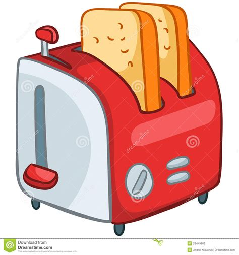 Cartoon Home Kitchen Toaster Stock Vector   Illustration