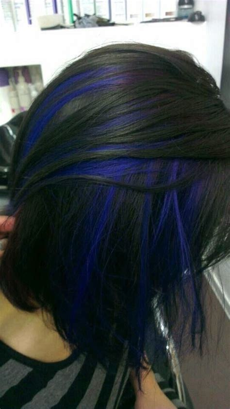 red hair with blue highlights 20 hottest new highlights for black hair popular haircuts