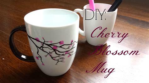 mug ideas diy gift idea cherry blossom mug youtube