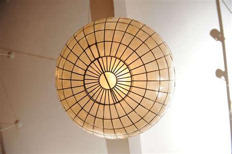 large capiz shell ceiling light at 1stdibs