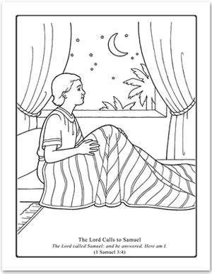 coloring page of samuel and eli