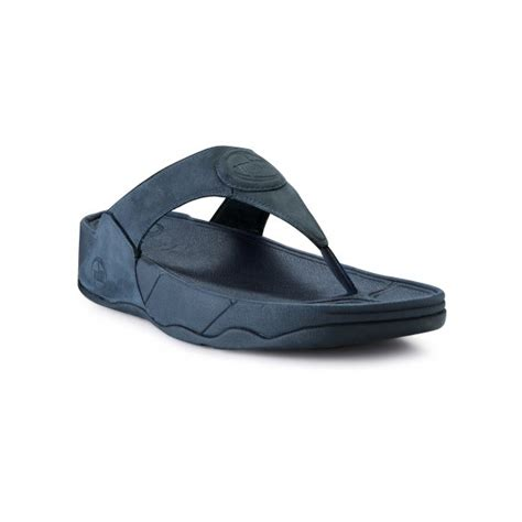Sandal Wanita Fitflop Via Nubuck fitflop walkstar iii supernavy nubuck sandal fitflop from crichton shoes uk